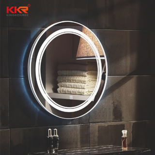 Forme ronde LED Sanitaires Defogg Bathroom Vanity Mirror KKR-8013